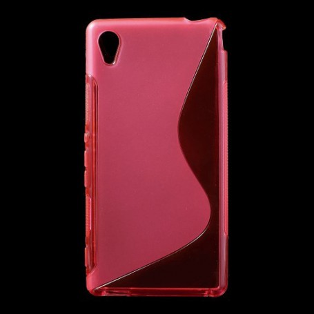Sony Xperia M4 Aqua roosan punainen silikonisuojus.