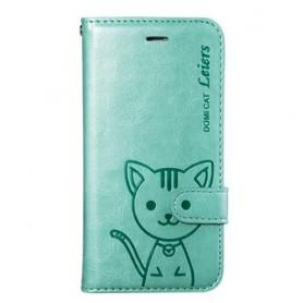 iPhone 6 / 6s vihreä kissa puhelinlompakko