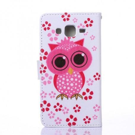 Galaxy J5 pinkki pöllö puhelinlompakko