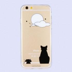 iPhone 6 / 6s kissa ja kuu kuoret.