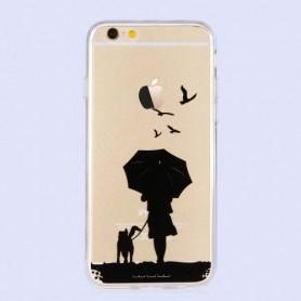 iPhone 6 / 6s tytön siluetti kuoret.