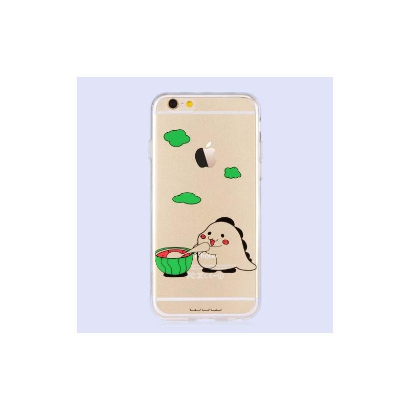 iPhone 6 / 6s söpö otus syö vesimelonia kuoret.