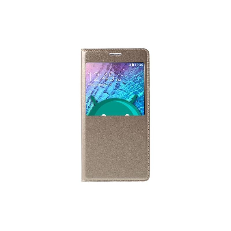 Galaxy J5 samppanjan kultainen ikkunakuori