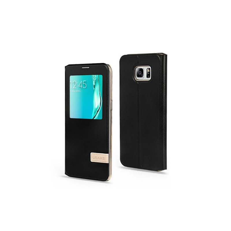 Galaxy S6 edge plus musta ikkunakuori