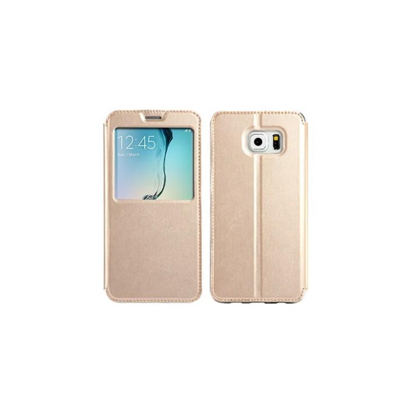 Galaxy S6 edge plus sampanjan kultainen ikkunakuori