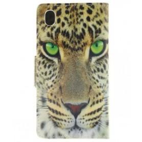 Sony Xperia M4 Aqua leopardi puhelinlompakko