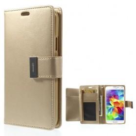Galaxy S4 samppanjan kultainen puhelinlompakko