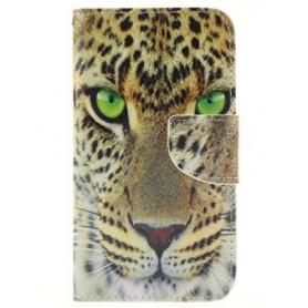 Galaxy J1 leopardin kasvot puhelinlompakko