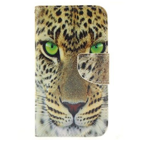 Galaxy A3 leopardin kasvot puhelinlompakko