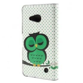 Lumia 550 vihreä pöllö puhelinlompakko