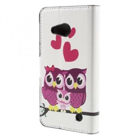 Lumia 550 pöllöperhe puhelinlompakko