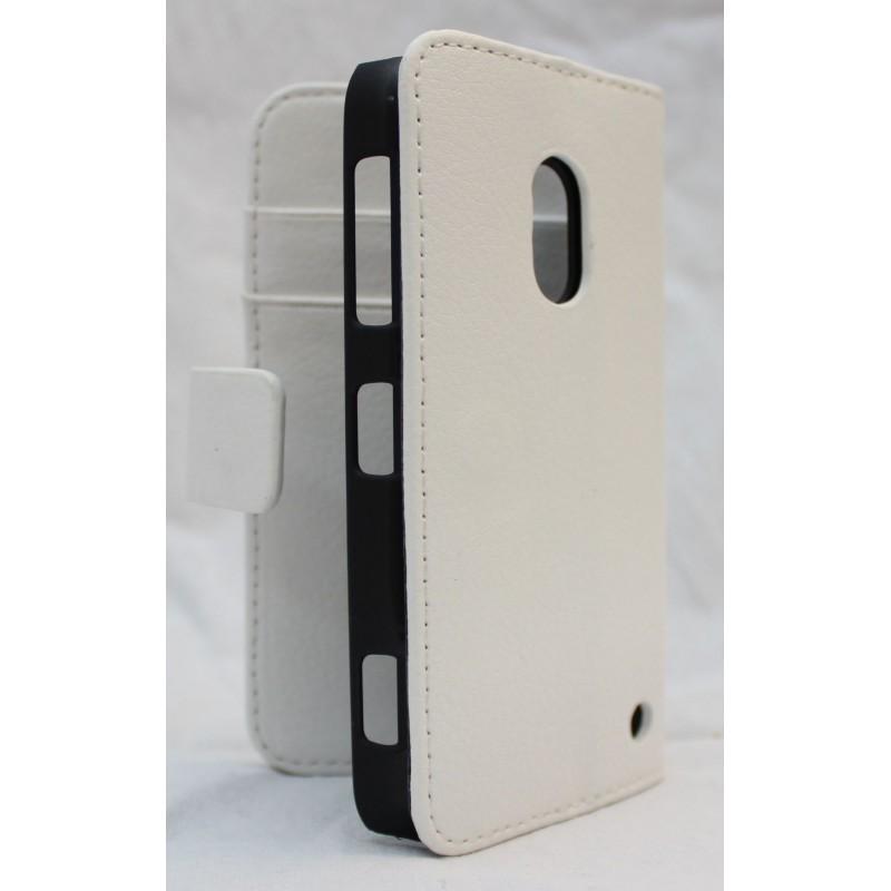 Lumia 620 valkoinen lompakko suojakotelo.