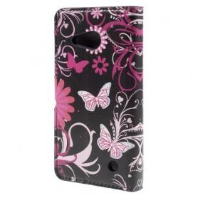Lumia 550 kukkia ja perhosia puhelinlompakko