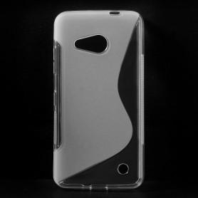 Lumia 550 läpinäkyvä silikonisuojus.