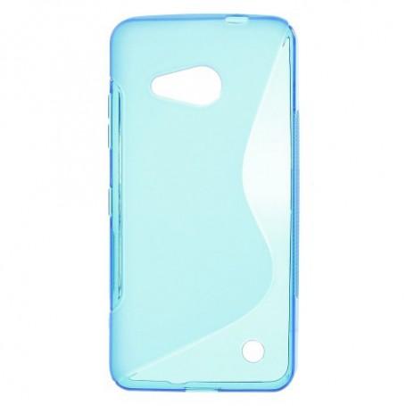 Lumia 550 sininen silikonisuojus.