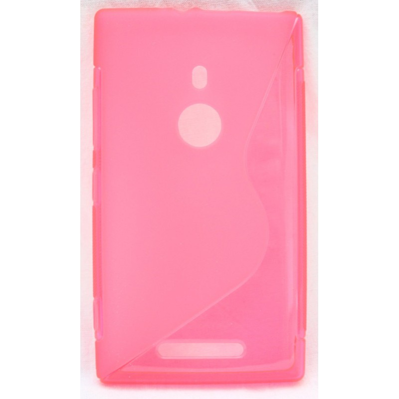 Lumia 925 roosan punainen silikoni suojakuori.