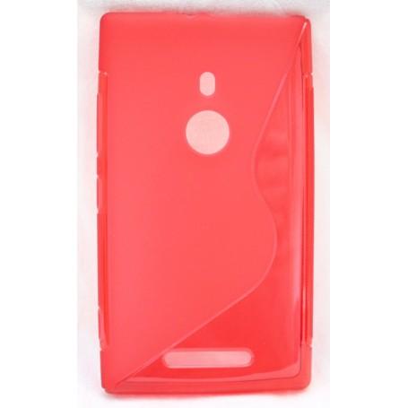Lumia 925 punainen silikoni suojakuori.