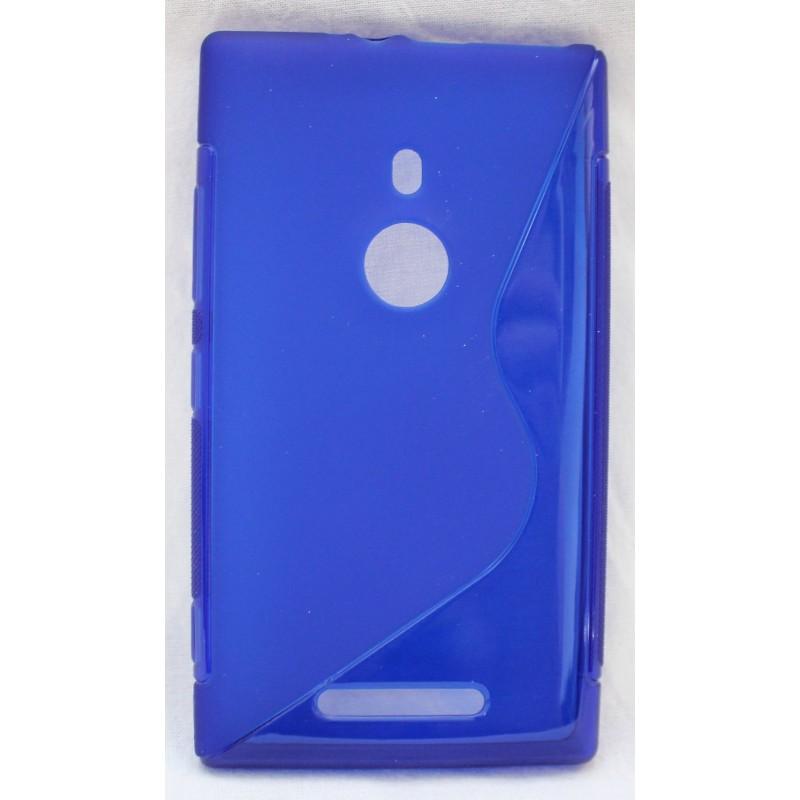 Lumia 925 sininen silikoni suojakuori.