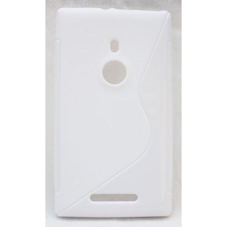 Lumia 925 valkoinen silikoni suojakuori.