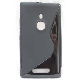 Lumia 925 musta silikoni suojakuori.