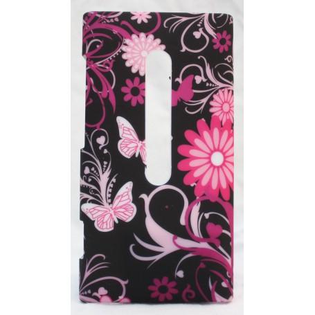 Lumia 800 suojakuori tumma kukat ja perhoset.