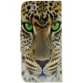 iPhone 5s leopardi puhelinlompakko