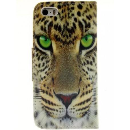 iPhone 5c leopardi puhelinlompakko