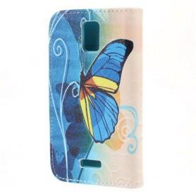 Huawei Y360 sininen perhonen puhelinlompakko
