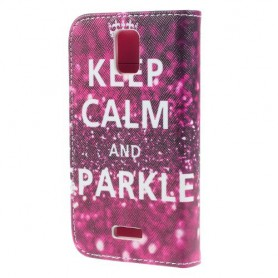 Huawei Y360 keep calm and sparkle puhelinlompakko