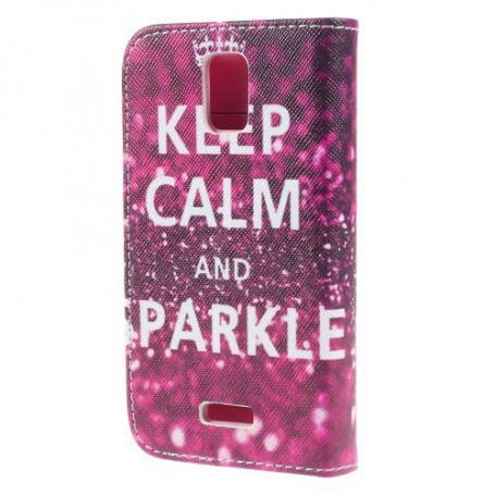 Huawei Y360 keep calm and sparkle puhelinlompakko