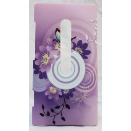 Lumia 800 suojakuori violetit kuviot.