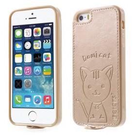iPhone 5/5s samppanjan kultainen kissakuori.