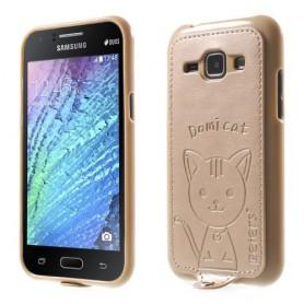 Galaxy J1 samppanjan kultainen kissakuori.