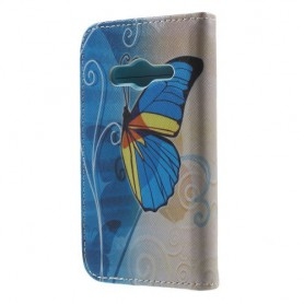 Galaxy Trend 2 sininen perhonen lompakkokotelo