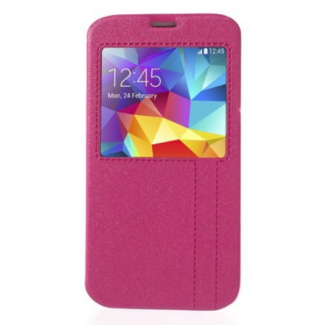 Galaxy S5 pinkki ikkunakuori