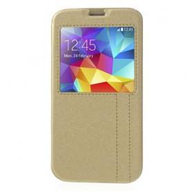 Galaxy S5 samppanjan kultainen ikkunakuori