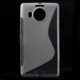 Lumia 950 XL läpinäkyvä silikonisuojus.