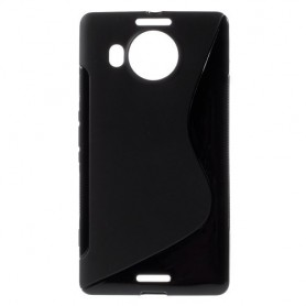 Lumia 950 XL musta silikonisuojus.