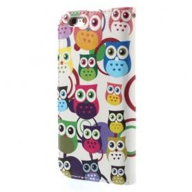 iPhone 6 värikkäät pöllöt puhelinlompakko