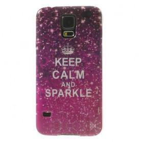 Galaxy S5 keep calm and sparkle silikonisuojus.