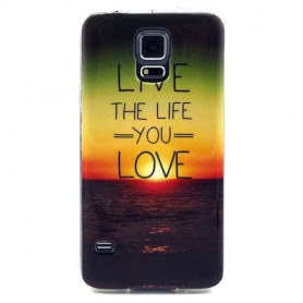Galaxy S5 live the life you love silikonisuojus.