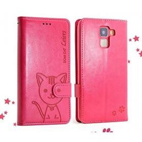 Huawei Honor 7 punainen kissa puhelinlompakko