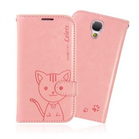 Samsung Galaxy S4 vaaleanpunainen kissa puhelinlompakko