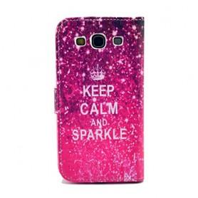Samsung Galaxy S3 keep calm puhelinlompakko