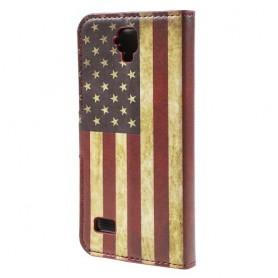 Huawei Y5 Yhdysvaltojen lippu puhelinlompakko
