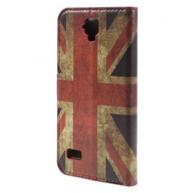 Huawei Y5 Iso-Britannian lippu puhelinlompakko