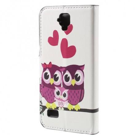 Huawei Y5 pöllöperhe puhelinlompakko
