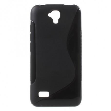 Huawei Y5 musta silikonisuojus.