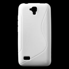 Huawei Y5 valkoinen silikonisuojus.
