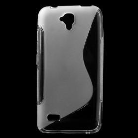 Huawei Y5 läpinäkyvä silikonisuojus.